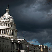 A storm cloud moves in over the U.S. Capitol building on Jan. 25th, 2010 in Washingtonon.