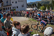 Erin Huck (USA) during the Women Elite Cross Country event at the 2018 UCI MTB World Championships - Lenzerheide, Switzerland