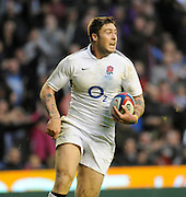Twickenham, GREAT BRITAIN, Matt BANAHAN, running in the score a second half try during the Investec,  Autumn International, Challenge Series, England vs Samoa, at Twickenham Stadium, Surrey on Saturday  20/11/2010   [ Mandatory Credit, Peter Spurrier/Intersport-images]