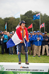 Marijke, Visser, (NED) - Endurance - Alltech FEI World Equestrian Games™ 2014 - Normandy, France.<br /> © Hippo Foto Team - Dirk Caremans<br /> 25/06/14