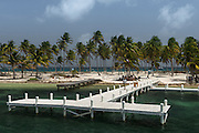 Dock<br /> Halfmoon Caye<br /> Lighthouse Reef Atoll<br /> Belize<br /> Central America