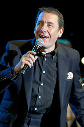 Image ©Licensed to i-Images Picture Agency. 04/07/2014. Oxford, United Kingdom. Cornbury Festival. Jools Holland Rhythm and Blues Orchestra plus guests perform at Cornbury Music Festival. Picture by i-Images