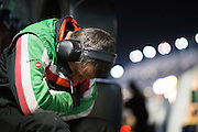 January 27-31, 2016: Daytona 24 hour: A Ferrari mechanic sleeps during the Daytona 24