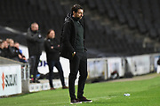 Milton Keynes Dons manager Russell Martin during the EFL Trophy match between Milton Keynes Dons and Wycombe Wanderers at stadium:mk, Milton Keynes, England on 12 November 2019.