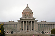 Jefferson City, Missouri MO USA, The Missouri state capitol building the statue of Thomas Jefferson October 2006