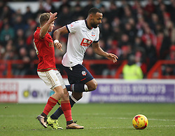Jamie Ward of Nottingham Forest (L) and Liam Trotter of Bolton Wanderers in action - Mandatory byline: Jack Phillips/JMP - 16/01/2016 - FOOTBALL - The City Ground - Nottingham, England - Nottingham Forest v Bolton Wonderers - {event}