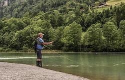 THEMENBILD - ein Fischer wirft seine Angel aus, aufgenommen am 09. Juni 2019, Kaprun, Österreich // a fisherman ejects his fishing rod on 2019/06/09, Kaprun, Austria. EXPA Pictures © 2019, PhotoCredit: EXPA/ Stefanie Oberhauser