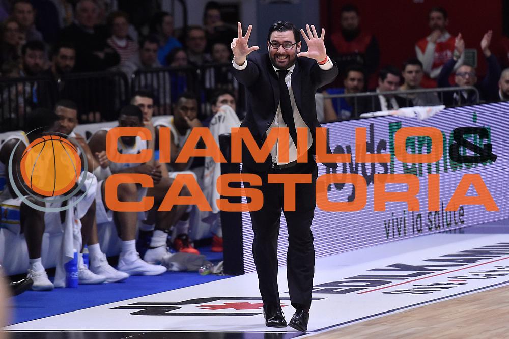Paolo Lepore<br /> Vanoli Cremona - Betaland Orlandina Capo d Orlando<br /> Lega Basket Serie A 2016/2017<br /> Cremona, 12/03/2017<br /> Foto M.Ceretti / Ciamillo - Castoria