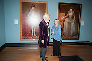 SIR ROY STRONG; KAREN HEARN, Mark Weiss dinner, Nationaal Portrait Gallery. London. 15 October 2012.