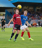 Dundee&rsquo;s Paul McGowan and Cowdenbeath's Jamie Pyper - Cowdenbeath v Dundee in the Betfred Cup at Central Park, Cowdenbeath - Picture by David Young<br /> <br />  - &copy; David Young - www.davidyoungphoto.co.uk - email: davidyoungphoto@gmail.com