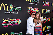 Periko and Jesse attend the 2014 FIFA World Cup McDonald's Launch Party to celebrate the unveiling of the transformed McDonald's fry box at Pillars 38 in New York City, New York on June 05, 2014.