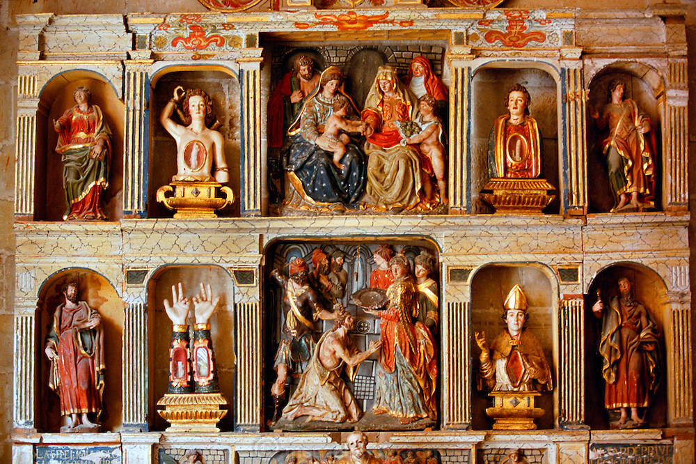 Retablo de las Reliquias in the  Cathedral Museum, Santo Domingo, Spain.