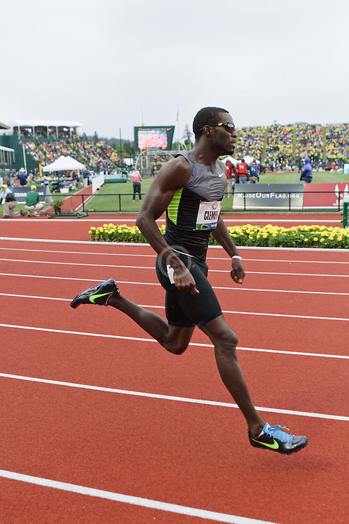 Olympic Trials Eugene 2012: men's 400 hurdles, Kerron Clement