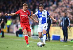 Lee Brown of Bristol Rovers in action against Gillingham - Mandatory by-line: Paul Knight/JMP - 28/04/2018 - FOOTBALL - Memorial Stadium - Bristol, England - Bristol Rovers v Gillingham - Sky Bet League One