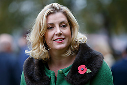 © Licensed to London News Pictures. 29/10/2015. London, UK. Conservative MP Penny Mordaunt taking part at Westminster Dog of the Year competition in Victoria Tower Gardens in London on Thursday, 29 October 2015. Photo credit: Tolga Akmen/LNP
