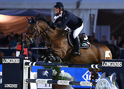 20.09.2014, Magna Racino, Ebreichsdorf, AUT, Vienna Masters 2014, Global Champions Tour Grand Prix, im Bild Billy Twomey auf Diaghilev (IRL) // during Vienna Masters 2014 Global Champions Tour Grand Prix at the Magna Racino, Ebreichsdorf, Austria on 2014/09/20. EXPA Pictures © 2014, PhotoCredit: EXPA/ Thomas Haumer