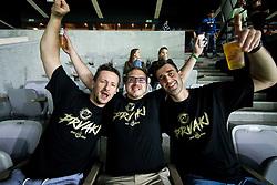 Matej Bergant and Drazen Bubnic of KK Petrol Olimpija celebrate  after NK Olimpija won during football match between NK Aluminij and NK Olimpija Ljubljana in the Final of Slovenian Football Cup 2017/18, on May 30, 2018 in SRC Stozice, Ljubljana, Slovenia. Photo by Vid Ponikvar / Sportida