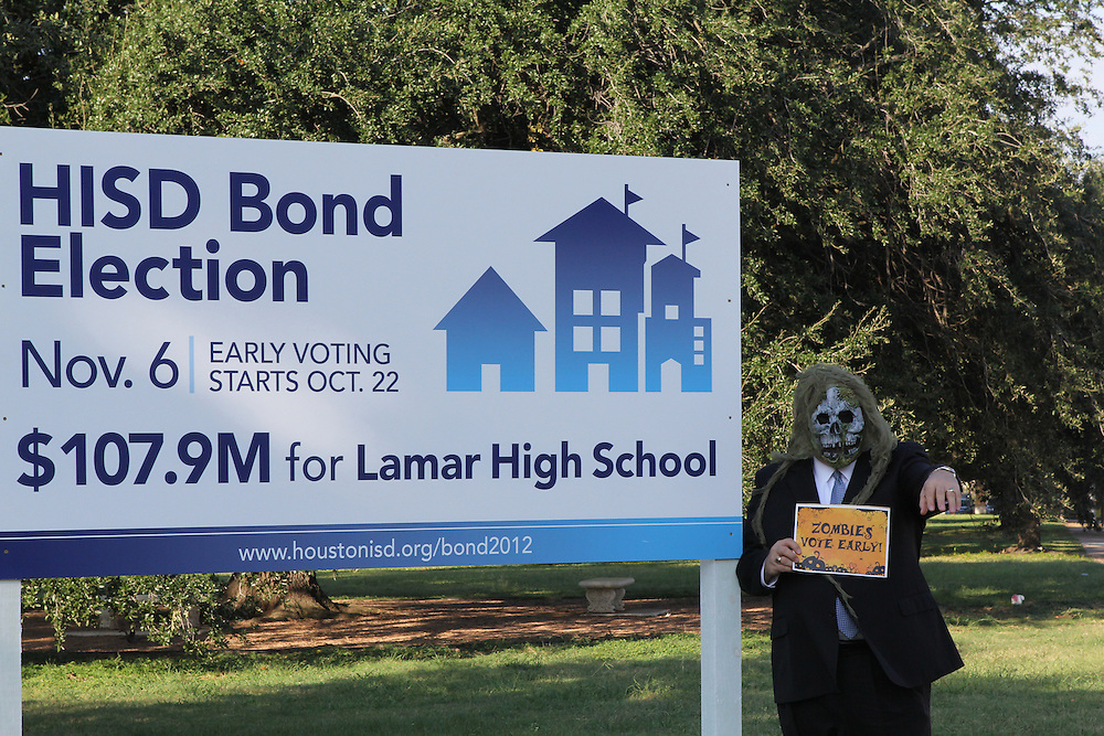 The early voting zombie outbreak has hit Lamar HS and principal James McSwain.