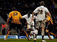 Photo: Jed Wee/Sportsbeat Images.<br /> Bradford City v Hereford United. Coca Cola League 2. 29/12/2007.<br /> <br /> Hereford's Trevor Benjamin scores their third goal just before half time.