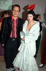 DETMAR & ISABELLA BLOW at the Art Plus Dance Party 2005 - an evening of live dance, film and partying held at the Whitechapel Art Gallery, 80-82 Whitechapel High Street, London on 21st March 2005.<br />