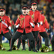 Members of the New Zealand Army Band perform the Haka before the New Zealand V Australia Semi Final match at the IRB Rugby World Cup tournament, Eden Park, Auckland, New Zealand, 16th October 2011. Photo Tim Clayton...