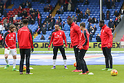 Liverpool players before the Barclays Premier League match between Crystal Palace and Liverpool at Selhurst Park, London, England on 6 March 2016. Photo by Phil Duncan.
