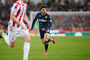 Leeds United forward Tyler Roberts (11)  during the EFL Sky Bet Championship match between Stoke City and Leeds United at the Bet365 Stadium, Stoke-on-Trent, England on 19 January 2019.