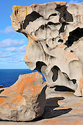 Remarkable Rocks are naturally sculptured formations precariously balanced atop a granite outcrop.