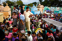 Guatemala San Raymundo, Mourners fill the grave site for one of the two Presidential Candidate, and Nobel Peace Prize winner, Rigoberta Menchu campaign workers, who were found murdered earlier in the week is taken to its final resting place in San Raymundo Guatemala, Friday Sept 7, 2007.  Crime has become a serious issue in the upcoming elections that are to take place on Sept. 9 2007.  ............