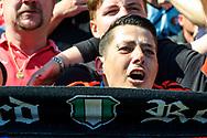 14-05-2017: Voetbal: Feyenoord v Heracles Almelo: Rotterdam<br /> <br /> (L-R) Supporters tijdens het Eredivisie duel tussen Feyenoord en Heracles Almelo op 14 mei 2017 in stadion Feyenoord (de Kuip)<br /> <br /> Eredivisie - Seizoen 2016 / 2017<br /> <br /> Foto: Gertjan Kooij