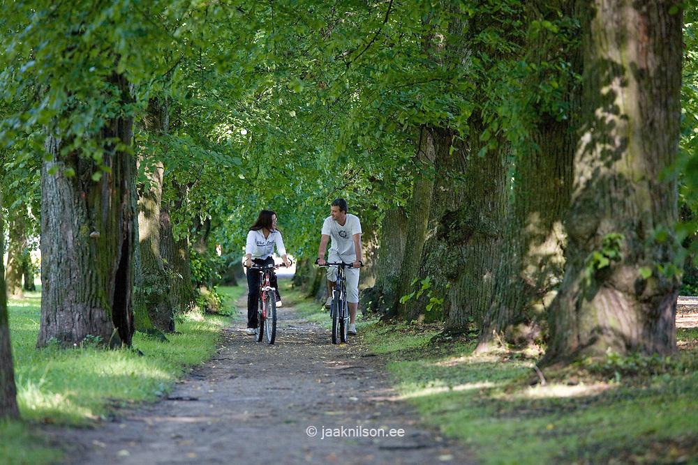 Couple in Park with Bikes, Estonia
