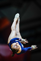October 28, 2018 - Doha, Quatar - Louise Vanhille of  France   during  Vault  qualification at the Aspire Dome in Doha, Qatar, Artistic FIG Gymnastics World Championships on 28 of October 2018. (Credit Image: © Ulrik Pedersen/NurPhoto via ZUMA Press)