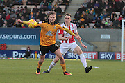 Luke Berry and Daniel Parslow during the EFL Sky Bet League 2 match between Cambridge United and Cheltenham Town at the R Costings Abbey Stadium, Cambridge, England on 26 November 2016. Photo by Antony Thompson.