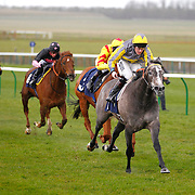 Tickled Pink and Tom Queally winning the 3.30 race