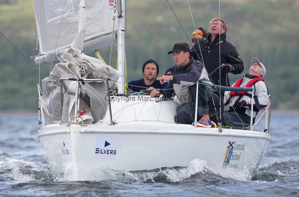Silvers Marine Scottish Series 2017<br /> Tarbert Loch Fyne - Sailing<br /> <br /> GBR7031N, CRHU, Neill Ross, RNCYC, Hunter 707 OD<br /> <br /> Credit: Marc Turner / CCC