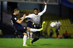 Jermaine Anderson of Peterborough United closes down John White of Southend United - Mandatory by-line: Joe Dent/JMP - 17/10/2017 - FOOTBALL - Roots Hall - Southend-on-Sea, England - Southend United v Peterborough United - Sky Bet League Two