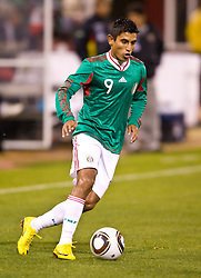 February 24, 2010; San Francisco, CA, USA;  Mexico forward Alberto Medina (9) during the second half against Bolivia at Candlestick Park. Mexico defeated Bolivia 5-0.