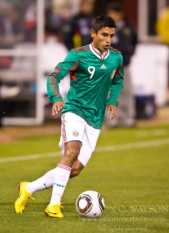 February 24, 2010; San Francisco, CA, USA;  Mexico forward Alberto Medina (9) during the second half against Bolivia at Candlestick Park. Mexico defeated Bolivia 5-0.