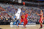Michael Kidd-Gilchrist #14 of the Kentucky Wildcats rebounds against Bubu Palo #1 of the Iowa State Cyclones during the third round of the NCAA men's basketball championship on March 17, 2012 at KFC Yum! Center in Louisville, Kentucky. Kentucky advanced with an 87-71 win. (Photo by Joe Robbins)