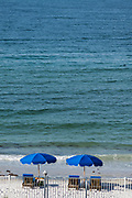 Redington Beach, Florida, USA., Friday, 27.09.19  Looking over the Beach, Sun Loungers and Umbrellas,<br /> <br /> [Mandatory Credit; Pete SPURRIER]