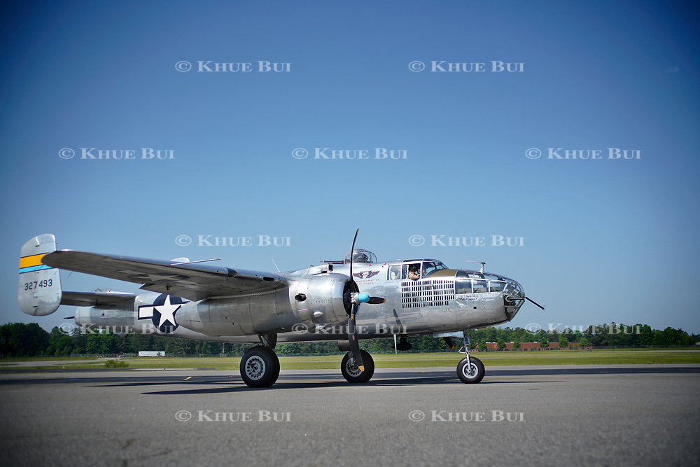 A B-25 bomber at Chesterfield Airport Saturday, May 12, 2018, in Chesterfield, VA.<br /> <br /> Photo by Khue Bui