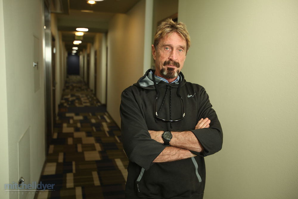 John McAfee photographed in his home in Portland, OR on May 11, 2013.