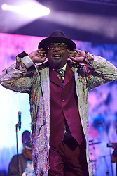 © Licensed to London News Pictures. 08/08/2015. Cornbury Park, Charlbury, Oxfordshire. GEORGE CLINTON Parliament and Funkadelic perform Return to the Mothership. The Wilderness Festival 2015 at Cornbury Park in Oxfordshire. Photo credit : MARK HEMSWORTH/LNP