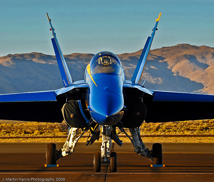 A Blue Angel sits on the ramp
