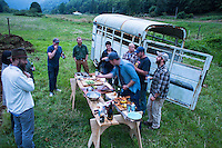 Farm to table dinner at the Nehalem River Ranch near Nehalem, Oregon.