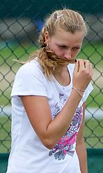 01.07.2011, Wimbledon, London, GBR, WTA Tour, Wimbledon Tennis Championships, im Bild  Petra Kvitova (CZE) practices ahead of her first Grand Slam Final match on day eleven of the Wimbledon Lawn Tennis Championships at the All England Lawn Tennis and Croquet Club. EXPA Pictures © 2011, PhotoCredit: EXPA/ Propaganda/ David Rawcliffe +++++ ATTENTION - OUT OF ENGLAND/UK +++++