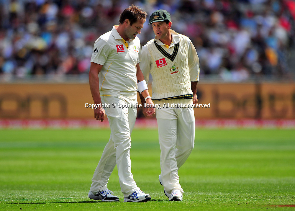 Ryan Harris &amp; Ricky Ponting (AUS)<br /> Australia vs England<br /> Cricket - Ashes Test 3 / Melbourne<br /> Melbourne Cricket Ground / MCG<br /> Sunday 26 December 2010<br /> &copy; Sport the library/Jeff Crow