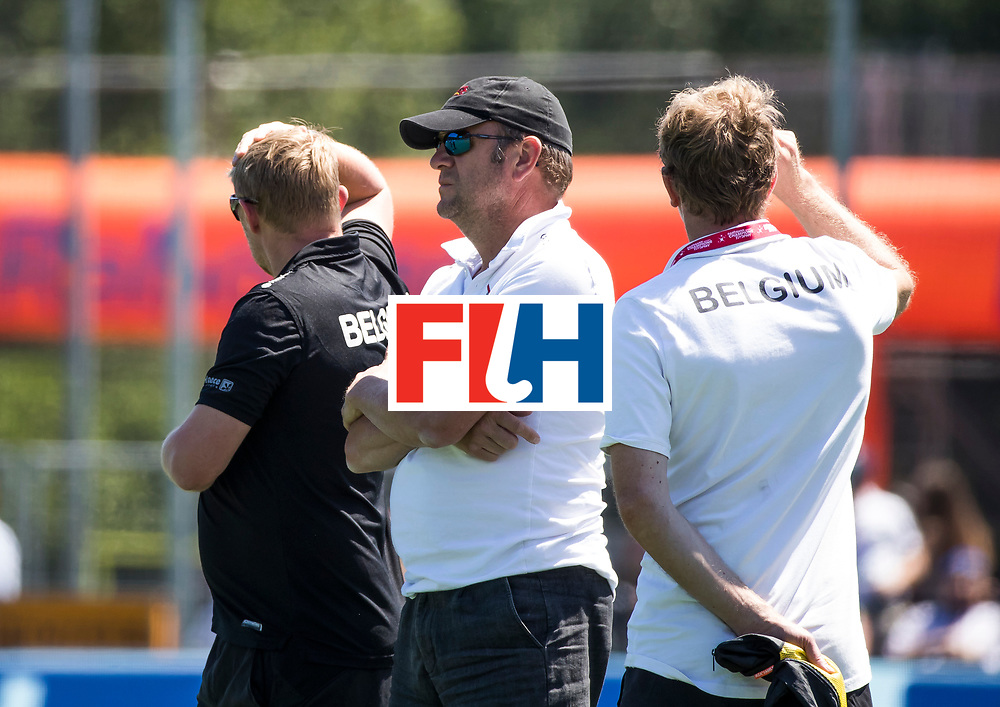 BREDA - Assistent coach Belgie, Michel van den Heuvel Belgie-Pakistan om de 5e plaats . Belgie wint shoot-outs. COPYRIGHT  KOEN SUYK