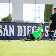 04 October 2018: The San Diego State men's soccer team took on Oregon State Thursday night and came away with a 1-0 win at the Aztec Sports Deck.