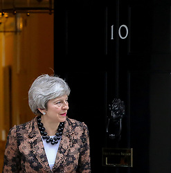 © Licensed to London News Pictures. 21/01/2019. London, UK. British Prime MinisterTheresa May welcomes the New Zealand Prime Minister Jacinda Ardern in Downing Street. Photo credit: Dinendra Haria/LNP